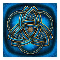 Blue Celtic Triquetra Square Sticker x by Naumaddic Arts - CafePress Celtic Symbols, Celtic Art, Celtic Knots, Celtic Heart Knot, Irish Symbols, Celtic Patterns, Celtic Designs, Gravure Metal, Les Aliens