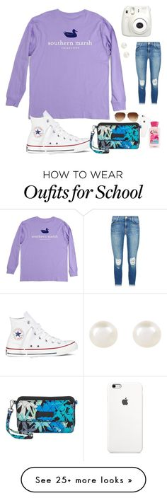 """were out of school!!!!!"" by lydiamorrison on Polyvore featuring Coach, Converse, Accessorize, Vera Bradley, J Brand, women's clothing, women, female, woman and misses"