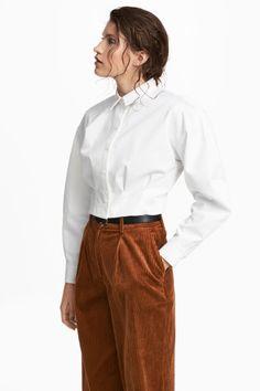 Krátká košile - Bílá - ŽENY | H&M CZ 1