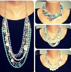 Different ways to wear the Premier Designs Sugar Rush necklace Premier Designs Get it FREE .. www.facebook.com/jewelryfashionpartiesjennifersanchez or http://jennifersanchez.mypremierdesigns.com