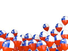 Flying balloons with flag of chile isolated on white Flying Balloon, Ideas Para Fiestas, Empanadas, Balloons, Akm, Instagram, Patio, Education, Frases