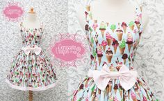 Sweet Lolita Ice Cream Dress by CoruscateUnique on Etsy, $125.00