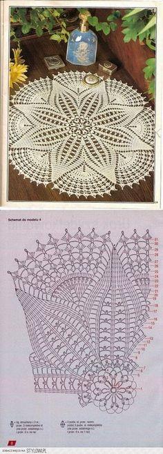 centrino uncinetto schema | Hobby lavori femminili - ricamo - uncinetto - maglia