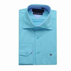 Tommy Hilfiger Long Sleeve Dress Shirts Light Green Free Shipping Long Sleeve Shirt Dress, Dress Shirts, Tommy Hilfiger Shirts, Dresses With Sleeves, Free Shipping, Green, Mens Tops, Fashion, Moda