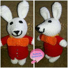 Conejo blanco #amigurumis #amigurumi #conejoblanco #Alicia #muñecostejidos #muñecostejidosjoni #tejido #tejiendoamano #hechoamano #Ecuador #Quito