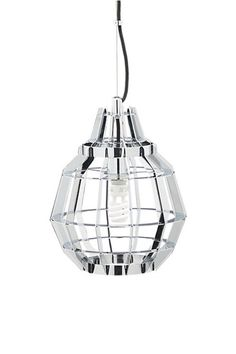 Cage chrome pendant lamp
