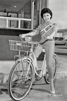 Sixteen-year-old actress Annette Funicello, Bicycle Queen of 1959.