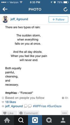 Two types of rain
