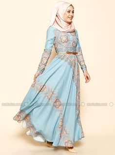 Ethnic Patterned Dress - Blue - Puane