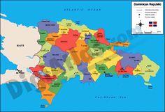 mapa de la rep. dom. con sus provincias y municipios - Buscar con Google