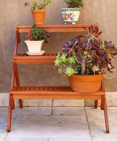 Another great find on #zulily! Acacia Wood Plant Stand #zulilyfinds