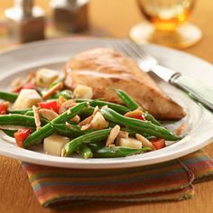 A make-ahead salad: Balsamic Green Beans with Caramelized Almonds