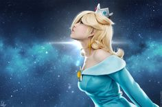 Princess Rosalina Cosplay from Super Mario Galaxy. Stylized Wig, Costume, makeup, accessories and props made and modeled by me. Mario Cosplay, Cosplay Games, The Legend Of Zelda, Mario Bros, Rosalina Cosplay, Zelda Hyrule Warriors, Super Mario Nintendo, Princesa Zelda, Princess Academy