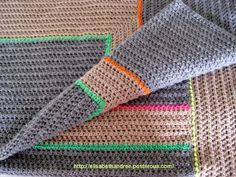 Blanket with neon accents