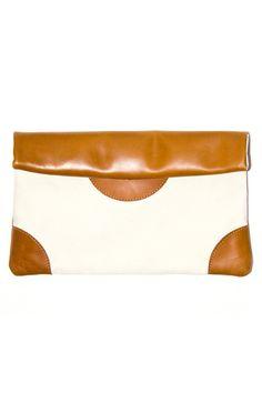 Caramel Saddle Clutch / Sseko Designs  #dogood
