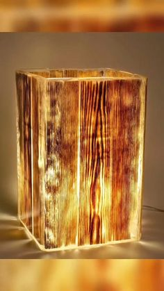 Woodworking Projects Diy, Diy Wood Projects, Wood Crafts, Resin Crafts, Resin Art, Diy Home Crafts, Diy Home Decor, Wooden Lamp, Wood Design