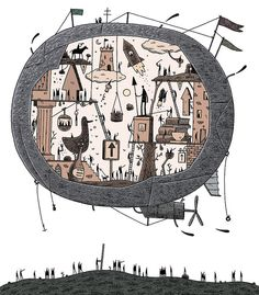 Social Balloon by Tom Gauld Graphic Poster, Balloon Art, Amazing Art, Comic Illustration, Illustration Art, Art, Creative Art, Balloon Illustration, Weird Photography