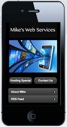 Mike's Web Services mobile site