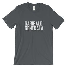 Men's Garibaldi General Tree-Shirt. The infamous Garibaldi General Tree-Shirt - with every order of a Tree-Shirt, we will plant 5 trees on your behalf!  This super-soft shirt fits like a well-loved favorite. Made from 100% cotton, except for heather colors, which contain polyester.  • 100% ring-spun cotton (heather colors contain polyester) • Baby-knit jersey  • Shoulder-to-shoulder taping  • Cover stitched and hemmed sleeves  • Side-seamed