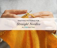 24 Straight Needle Knitting Patterns for Beginners patterns free hats straight needles 24 Straight Needle Knitting Patterns for Beginners Easy Baby Knitting Patterns, Easy Knitting Projects, Baby Hats Knitting, Knitting For Beginners, Knitting Tutorials, Free Knitting, Knitting Ideas, Knit Patterns, Diy Projects