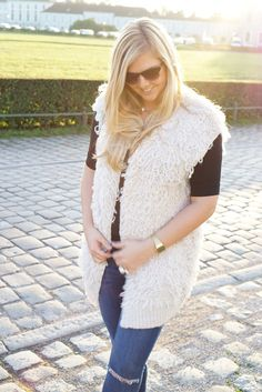 Cozy Sunset on http://www.glamfizz.de #fashion #blog #blogger #ootd #style #outfit #cozy #comfy #vest #topshop #romantic #sunset