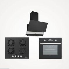 Esty 3420 Siyah Davlumbaz 500 m3/h çekim gücü 3 farklı emiş gücü seviyesi 120 mm baca çıkışı    Esty Es5211 Siyah Cam Ankastre Ocak Gaz kesme emniyeti Otomatik düğmeden ateşleme Temperli siyah cam 4 gözü gazlı    Esty 6175 Siyah Cam Ankastre Fırın 8 fonksiyonlu Mekanik ve dijital kontrol 53 L net fırın hacmi Dijital zaman ayarı Soğutma fanı A sınıfı enerji Turbo fan