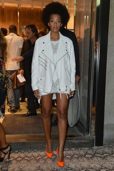 Solange! Now I need an oversized white motorcycle jacket.