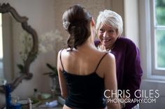 mother smiling at her daughter in the prep room of Nonsuch Mansion