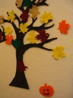 Felt autumn tree
