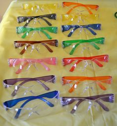 Mad science party glasses
