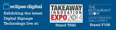 Discover the latest technology solutions for the Food & Beverage Industry live at The Takeaway Expo (Stand and The Restaurant Show this September and October in London: www. Digital Media, Uk Digital, Digital Menu Boards, Digital Signage Solutions, Expo Stand, Beverage, Innovation, September, Restaurant
