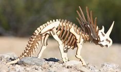 Styracosaurus Triceratops Wooden 3d puzzle by PeperIndustries