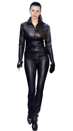 femme fatale womens leather jumpsuit online