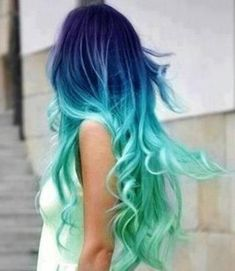 Summer sea and night sky color! If mermaids existed this is how their hair would look! The beautiful long hair is cut in long layers and styled into fabulous loose waves, which are tousled for a casual windswept or swaying sea-swept look! The absolutely stunning colours combine beautifully blended blues from the natural colour spectrum[Read the Rest]