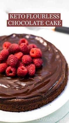 Sugar Free Chocolate Cake, Sugar Free Sweets, Keto Desert Recipes, Keto Recipes, Passover Recipes, Keto Foods, Vegetarian Recipes, Low Carb Desserts, Just Desserts