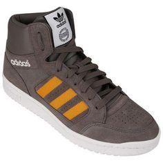 Tênis Adidas Pro Play – Marrom e Laranja - http://batecabeca.com.br/tenis-adidas-pro-play-marrom-e-laranja-netshoes.html