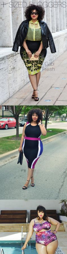 gabi-fresh best plus sized fashion bloggers.... plus size fashion does not have to be boring !!