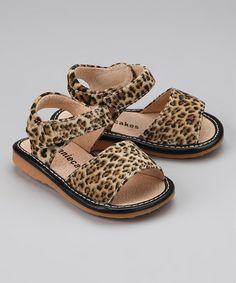 Look at this #zulilyfind! Leopard Squeaker Sandal by Laniecakes #zulilyfinds