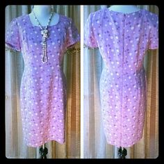 Host Pick 9/26 Classic Cool Party Beautiful lavender dress with polka dots soft material comes with a lining dry clean. Dresses