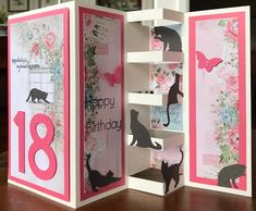 Best 12 Pop up card-Cats – SkillOfKing. Tri Fold Cards, Fancy Fold Cards, Folded Cards, Homemade Birthday Cards, Homemade Cards, Tarjetas Pop Up, Pop Up Box Cards, Step Cards, Dog Cards