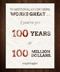 Apologies to my many former colleagues who still rely on traditional advertising for their wages.