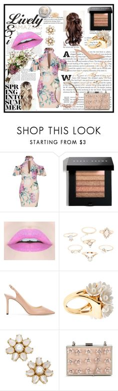 """From petal to plant"" by debbie-riley ❤ liked on Polyvore featuring Bobbi Brown Cosmetics, Charlotte Russe, Jimmy Choo, Lele Sadoughi and Kate Spade"