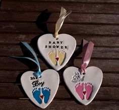These cute hanging heart decorations are the perfect baby showers, so unique and personalized to your choice, this is all you need for baby showers favour as a thank you