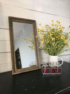 Old Wood Mirror, Wall Mirror, Distressed Mirror, Rustic Furniture,  Repurposed, Farmhouse Style, Beach Decor, Mountain Decor, Decorating Amazing Design