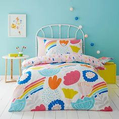 Elements Floral 100% Cotton Reversible Duvet Cover and Pillowcase Set | Dunelm King Size Duvet Covers, Duvet Cover Sizes, Kids Duvet Covers, Contemporary Duvet Covers, Bedding Collections, Soft Furnishings, Girls Bedroom, Bedroom Ideas, Comforter Sets