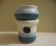 Potpourri holder tea candle votive sachet potpourri holder ceramic potpourri holder with lid blue ceramic potpourri holder blue potpourri
