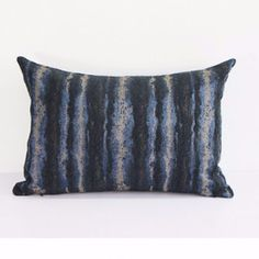 "PRODUCT Decorative Pillow DIMENSIONS 14"" X 20"" PILLOW COVER Blue/Black/White; 100% Polyester PILLOW INSERT Inserts are available from the most commonly used Polyester to Luxury Synthetic Down and Down Feather insert. All inserts are 100% made in the USA with the best quality guaranteed PACKAGING Pillow Cover is packaged with either transparent plastic packaging bag or tissue paper sheet; Pillow Insert is packed with plastic bag SHIPPING INFORMATION Product ships out within 48 hours of re..."