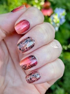 Cute Nail Colors, Pedicure Colors, Pedicure Nail Art, Cute Nails, Pretty Nails, Color Street Nails, Nails Inspiration, Girly Things, Flower Power