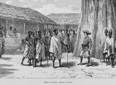 French West Africa in 1892 signs treaty siwith Famienkro tribe in Ivory Coast.