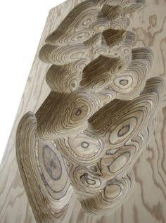 Plywood, CNC machined 1.20m x 0.50m x 0.2m